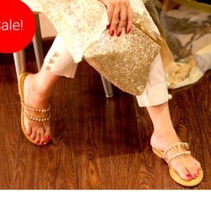 Gorgeous Gold Sandals - sale